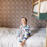 Make a Modern Fabric Feature Wall in Kids Bedroom