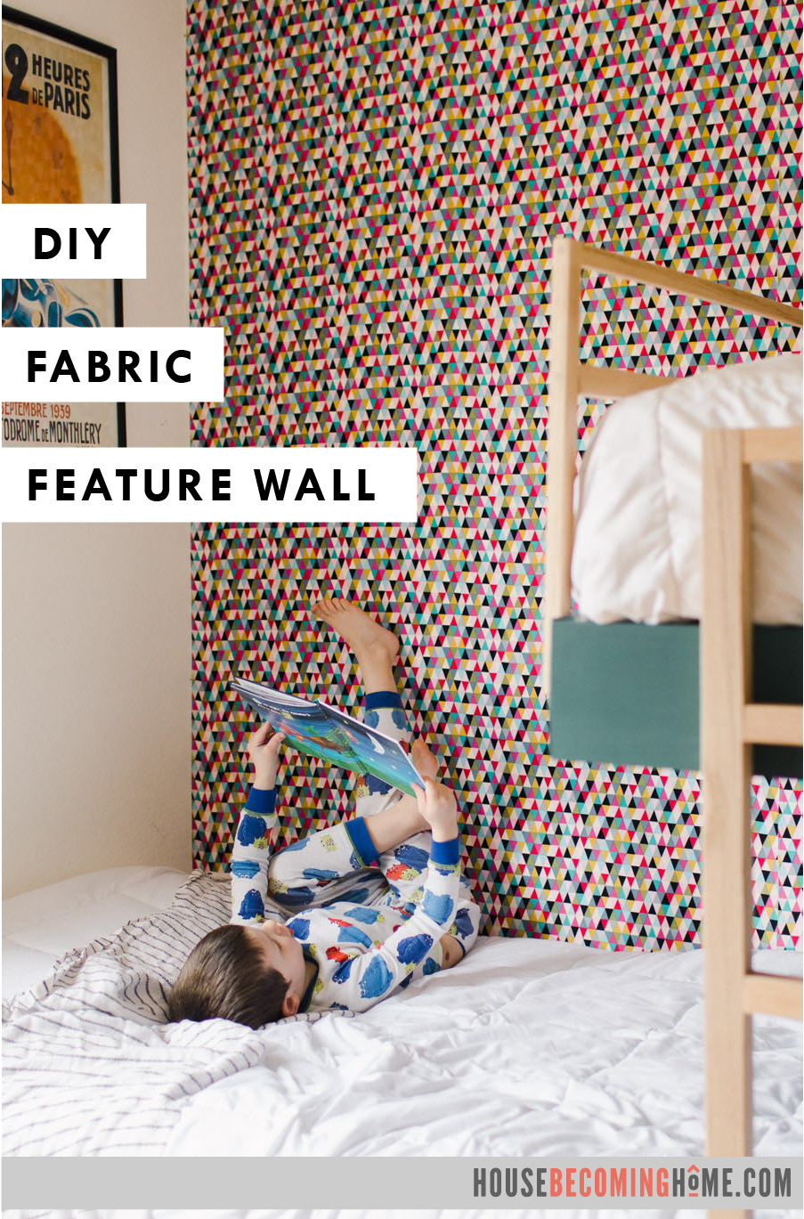 Temporary Wall Covering with Fabric