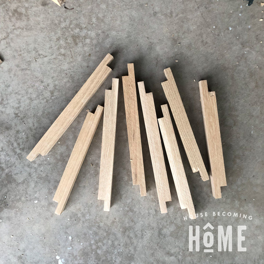 Half Lap Joint Pieces Cut
