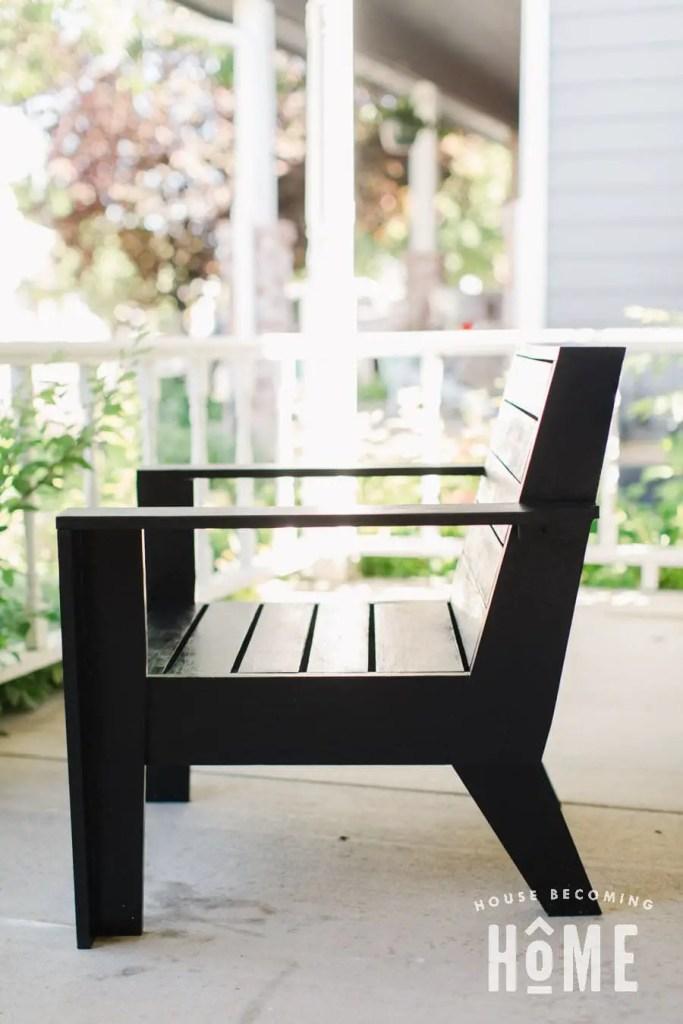 Modern Adirondack Chair Side View