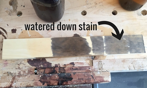 Towel ladder - watered down stain