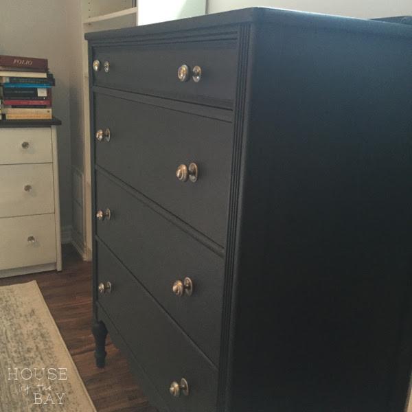 chalk paint dresser grey after