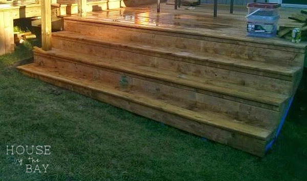 deck building stairs