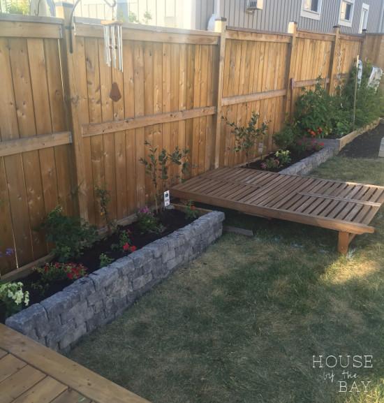 diy stone flowerbeds