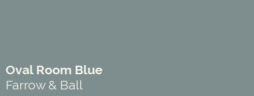 Our Home Paint Colours Oval Room Blue