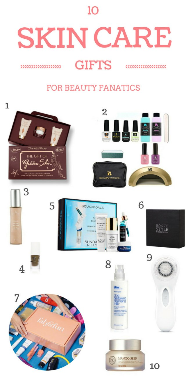 skincare gift ideas for beauty fanatics and spa go-ers