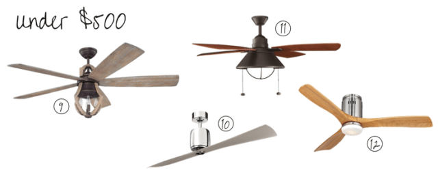 Attractive ceiling fans under $500 | House by the Bay Design