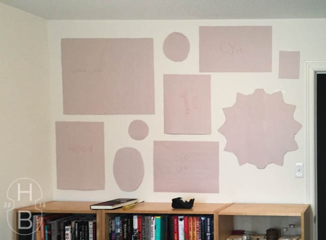 Guest room modern vintage gallery wall | paper templates | House by the Bay Design