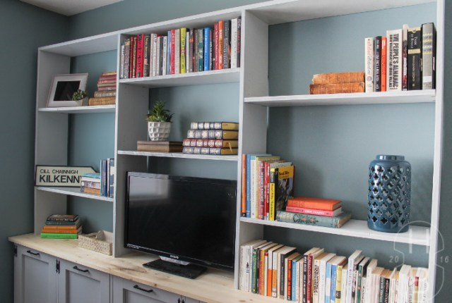 DIY Storage Unit with Tilt-Out Laundry Baskets   Master Bedroom Makeover   One Room Challenge   House by the Bay Design