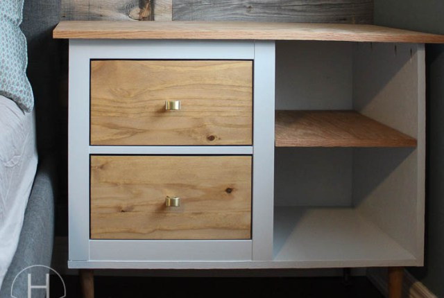 Mid Century Modern Ikea Hemnes Bedside Table Hack   House by the Bay Design