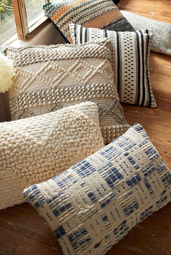 Textured Pillows | 2018 Home Design and Decor Trends | House by the Bay Design
