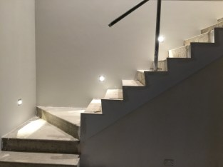Stair lights.