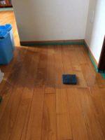 ワックスで汚れた床
