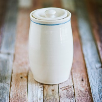 american pottery, crock, fermenting crock, pure pottery, pure clay, pure crock, old fashioned crock