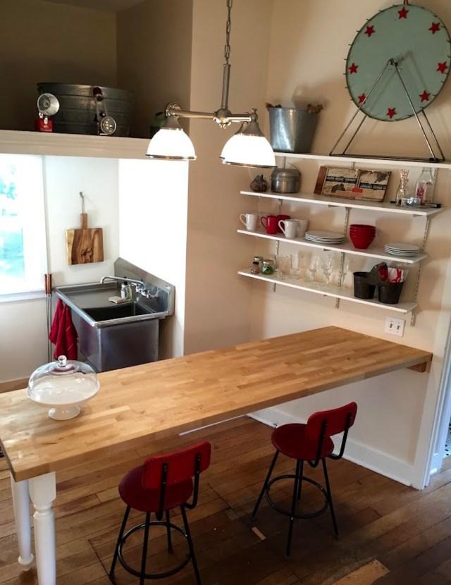 tiny cottage kitchen