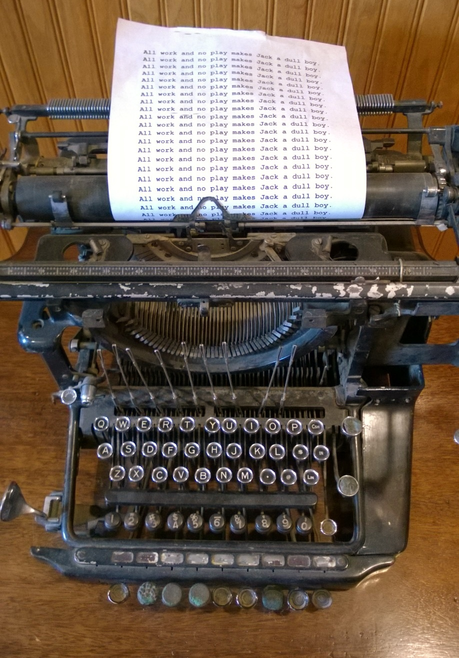 typewriter from The Shining