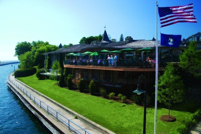 Earl Young restaurant in Charlevoix, Michigan
