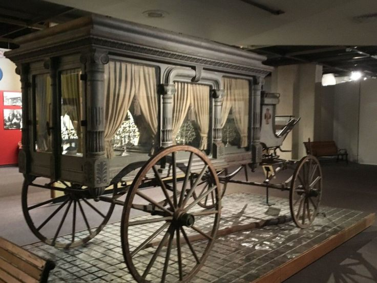antique horse drawn hearse - Castrrville Texas