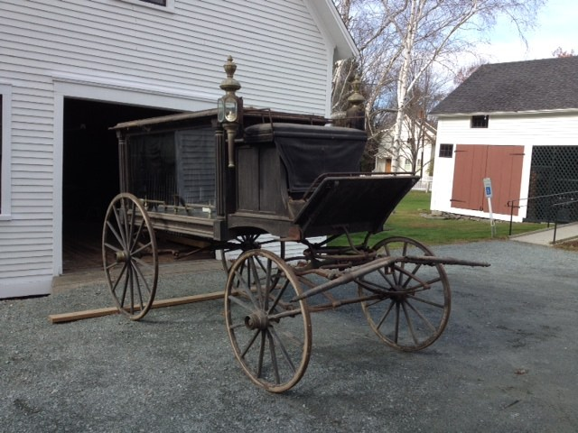antique horse drawn hearse - Norwich historical society