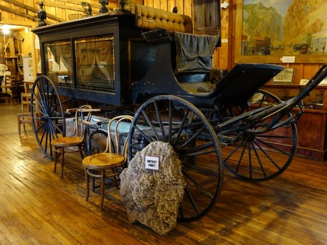 antique hearse in Creede, Colorado