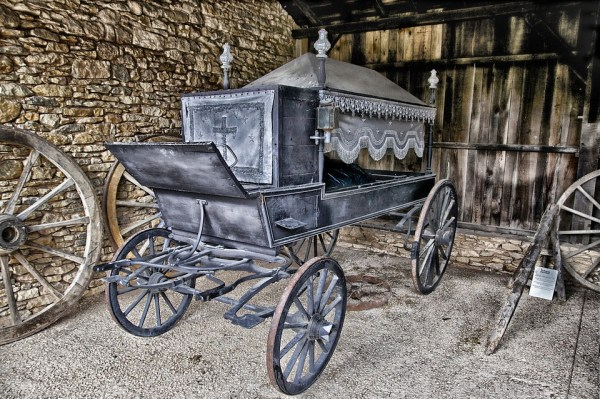 antique horse drawn hearse
