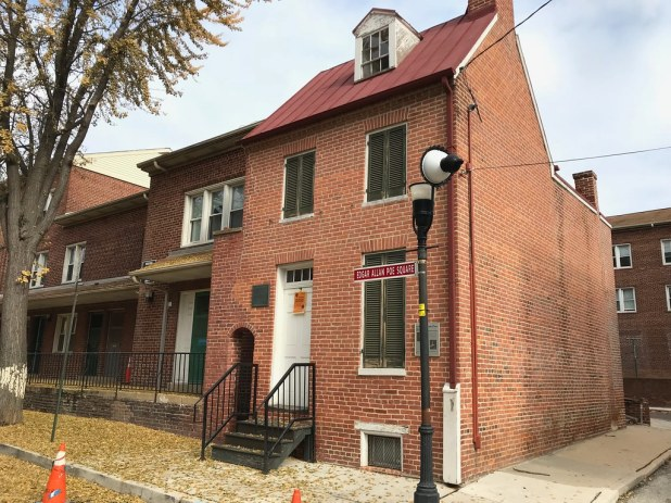 historic photo of Edgar Allan Poe's Baltimore house