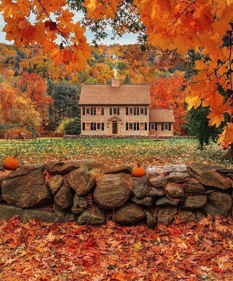 houses in fall