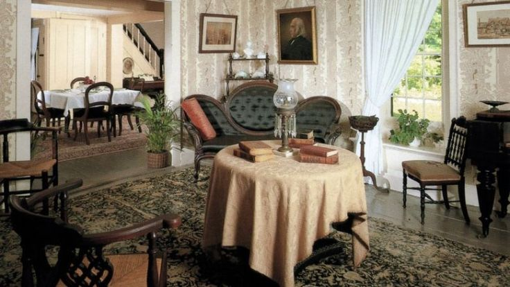 Louisa May Alcott House Orchard House parlor