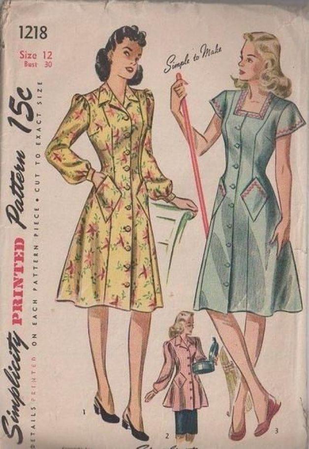 classic house dresses