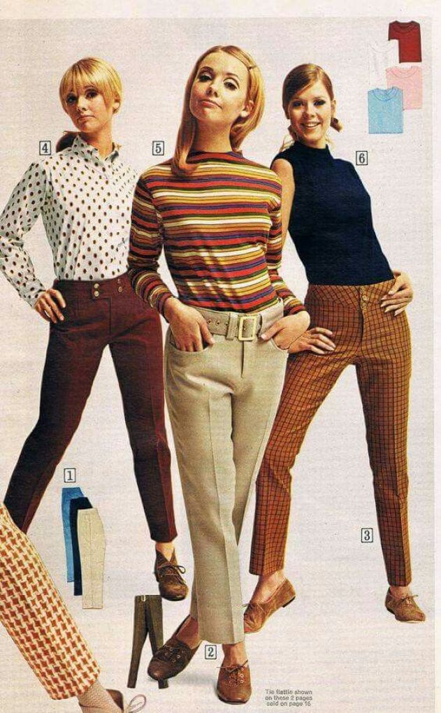women's pants in the 1960's