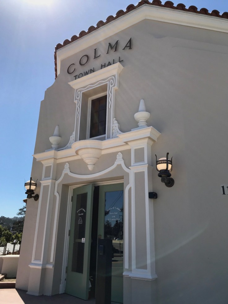 Colma California town hall photo