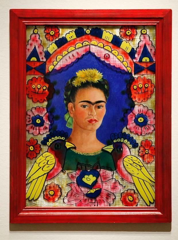 Frida Kahlo self portrait at home