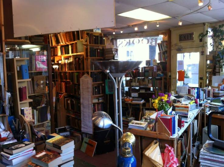 inside Scrivener's Bookshop in Buxton England