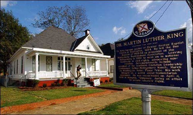 Martin Luther King Jr.'s house that was bombed