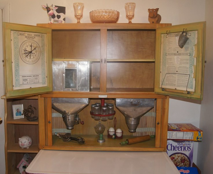 Hoosier cabinet features