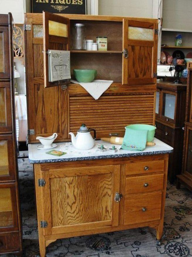 hoosier cabinet wooden