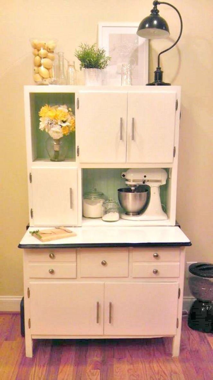 pink Hoosier cabinet