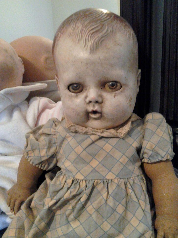 Creepy antique dolls