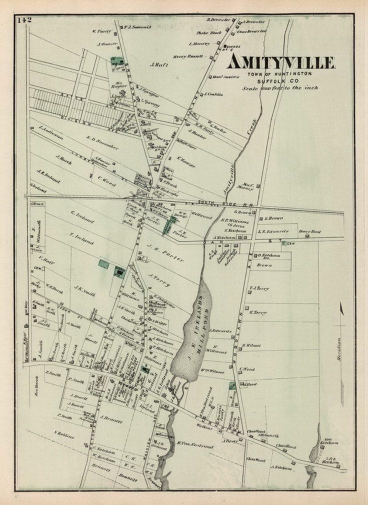 1873 Map of the Amityville village area