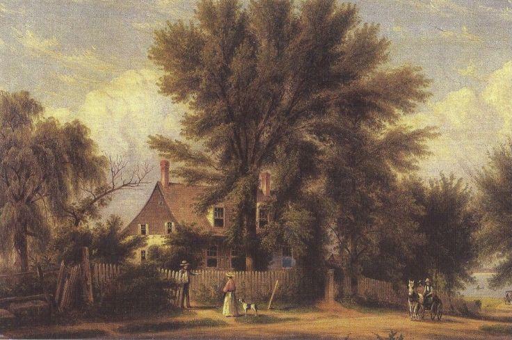 Lent-Riker-homestead-in-New-York-historic-painting