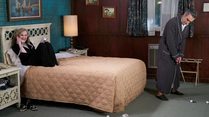 Rosebud Motel from Schitt's Creek inside bedroom
