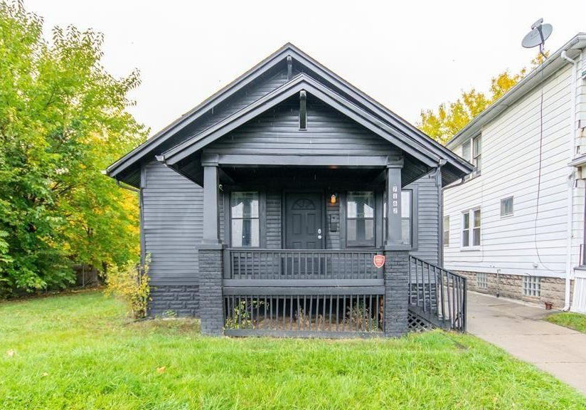 all grey house