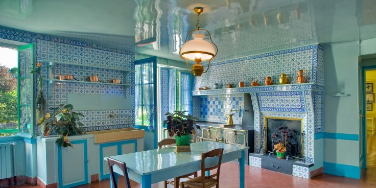 Claude Monet's Giverny France home kitchen