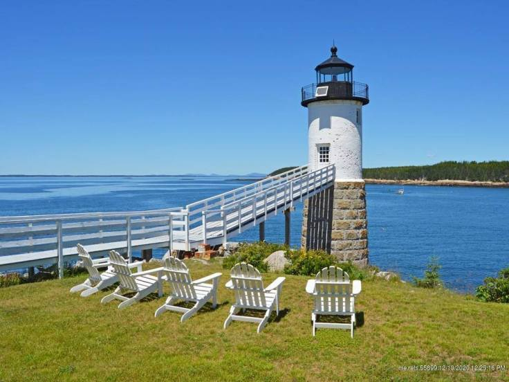 the Lighthouse keeper's cottage in Isle Au Haut Maine