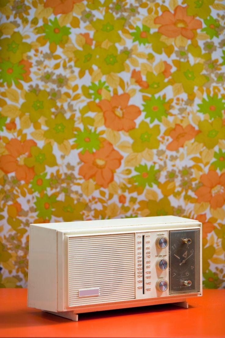1970's floral wallpaper