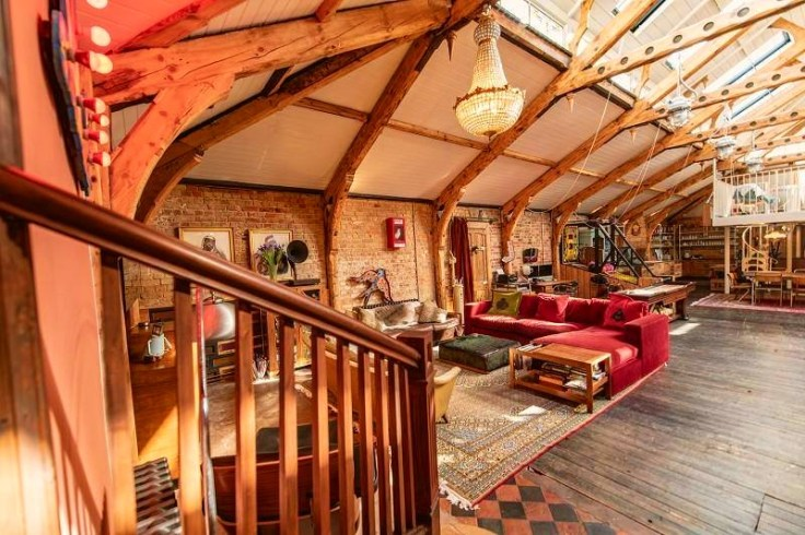 old bath house in England converted to funky home