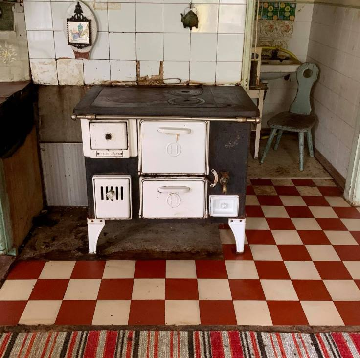 Scandinavian antique stove