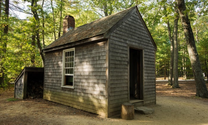 Henry David Thoreau replica cabin