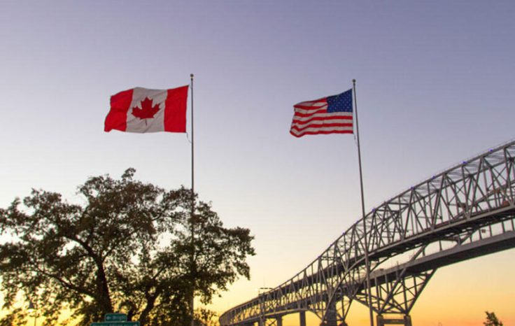 US Canada border crossing