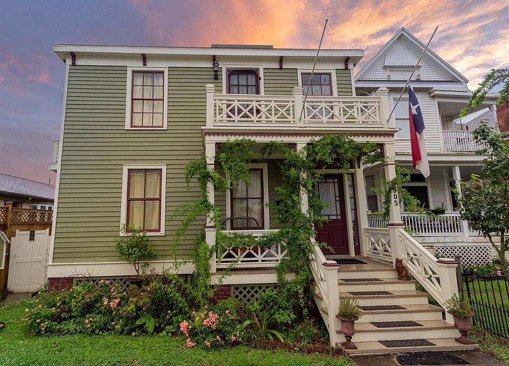 historic storm surviving Victorian house in Galveston Texas